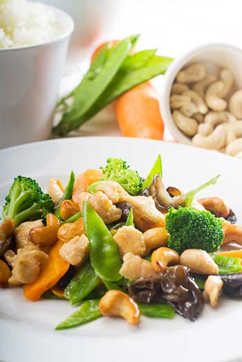 Nuts and Green Vegetables